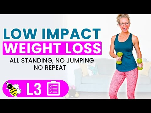 LOW IMPACT MetCon | 30 Minute Cardio + Weights Workout for WEIGHT LOSS