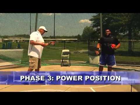 Shot put power position