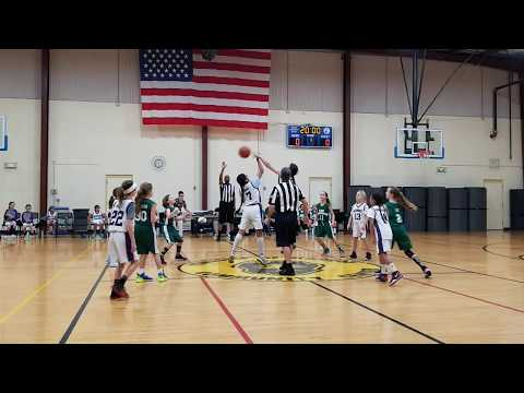 2019 12 28 Girls Monroe Falcons (4-5thgr) Coach Jamie Costa Rowe) Vs E Brunswick (Ryan Walp Tourney)