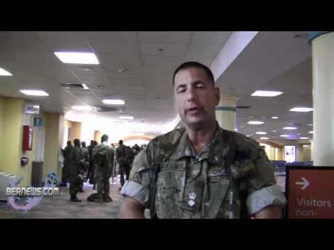 CO Lt Col Brian Gonsalves Bermuda Regiment Returns May 13 2011