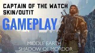 Shadow of Mordor - Captain of the Watch Skin Gameplay Pre-order bonus Outfits
