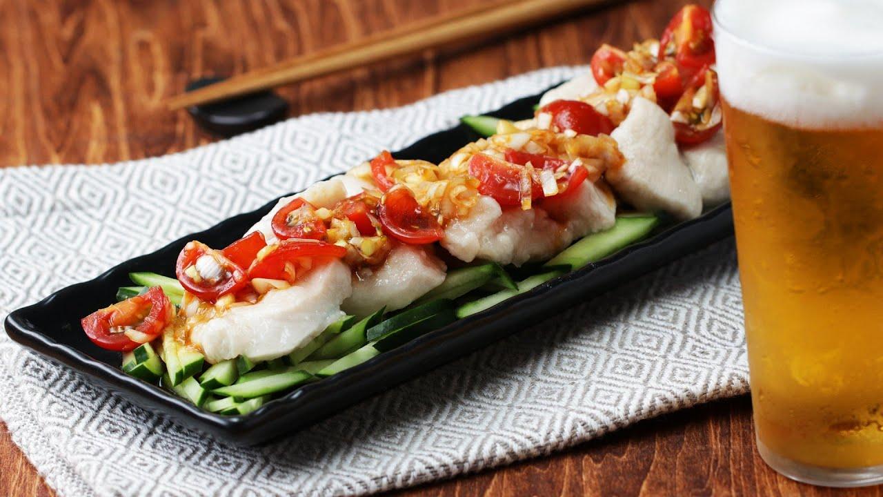 ぷるぷるパクパク水晶鶏〜四川風のトマトだれで召し上がれ♪〜 / Chicken with Szechuan Tomato Sauce