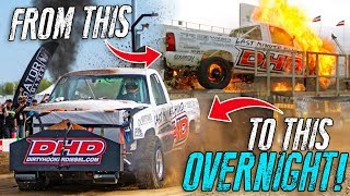 They rebuilt their 2000HP truck in ONE NIGHT.