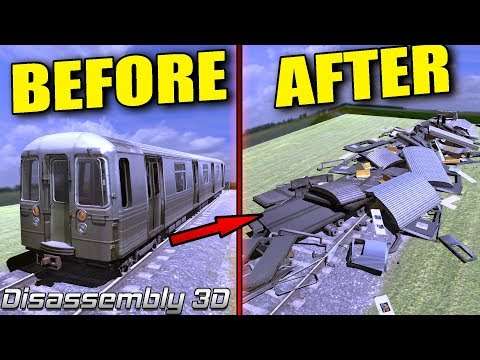 ULTIMATE TRAIN WRECKAGE! Let's Take Stuff Apart! - Disassembly 3D First Look
