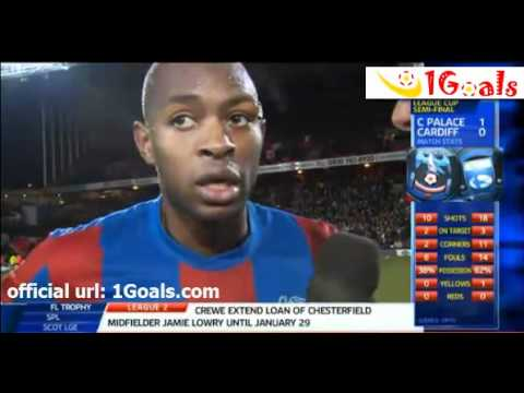 Crystal Palace vs Cardiff City 1-0 Gardner Post Match Interviews 10.1.2012 England Carling Cup