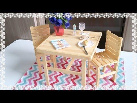 Tutorial Mesa e Cadeiras com Palitos de Picolé
