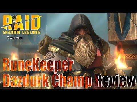 Raid Shadow Legends Runekeeper Dazdurk Champion Review 🧔👍