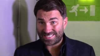 EDDIE HEARN: FURY AJ TALKS ARE ON/ USYK CHISORA + OTHER EXCLUSIVE FIGHTS - PACQUIAO, FOWLER FITZ +