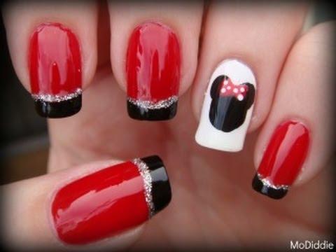 Disney Minnie Mouse Nails Youtube