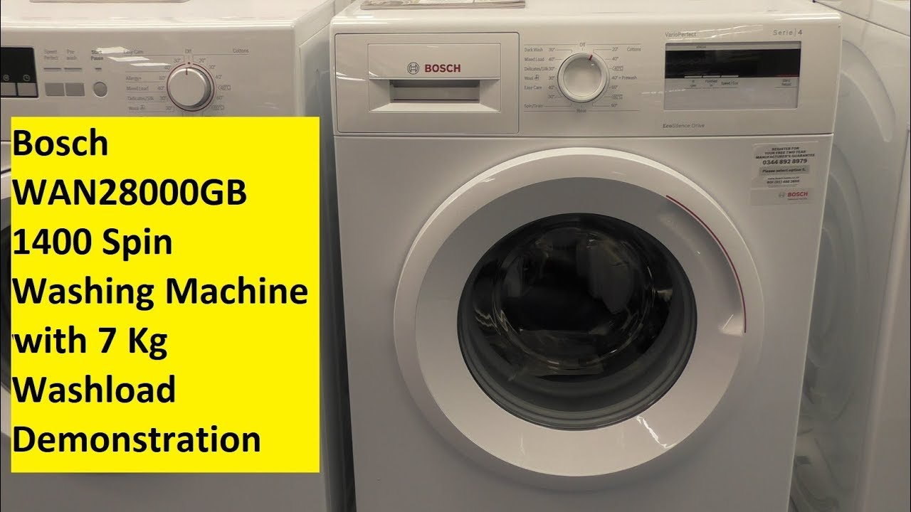 bosch washing machine bosch wan28000gb washing machine 11622