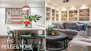 This Bright Basement Is The Ultimate Family Hangout