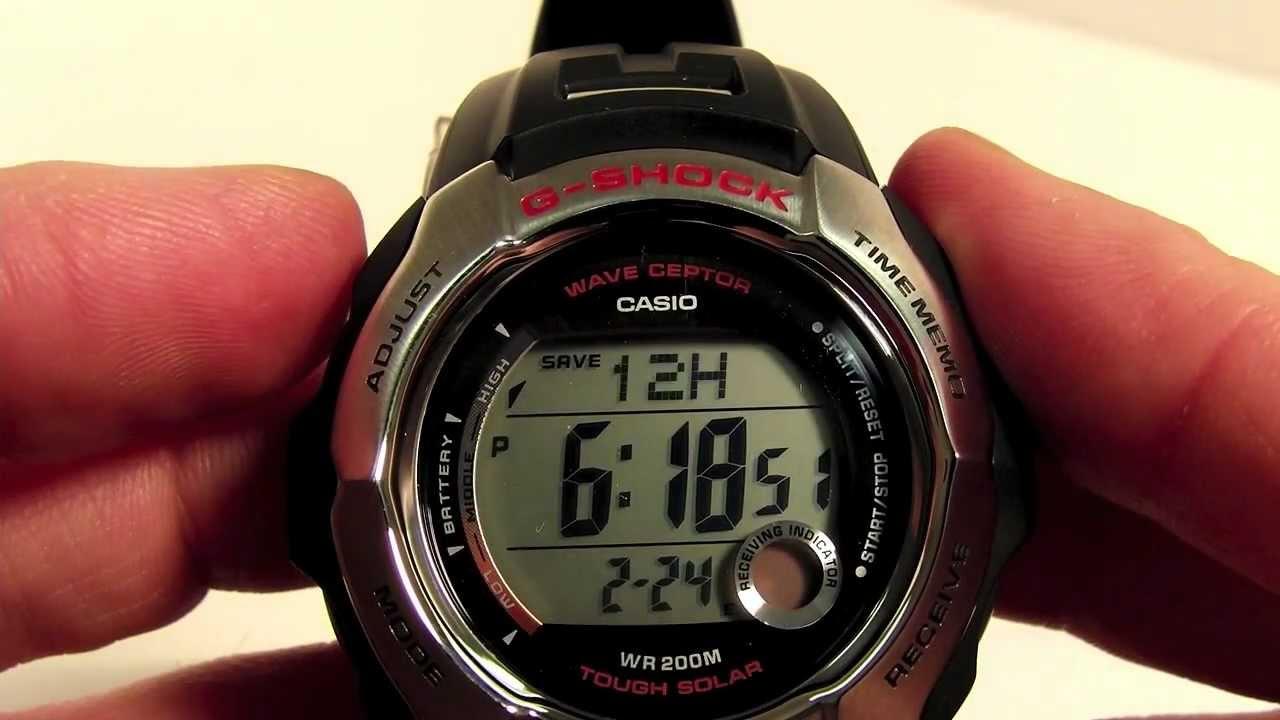 DST Setting for Casio Digital Waveceptor Watch