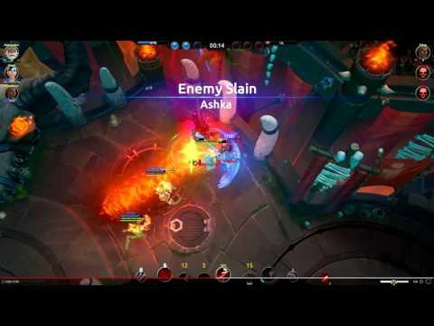 Battlerite Beta Gameplay - Taya Razor Boomerang Triple Kill