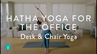 CHAIR YOGA FOR THE OFFICE — Do at your desk OR on an airplane!!  [12 min]