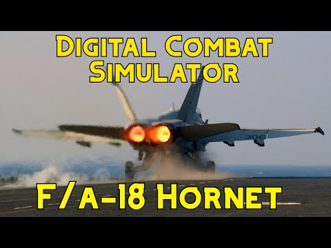 DCS: F/A-18C Basic Landing And AoA
