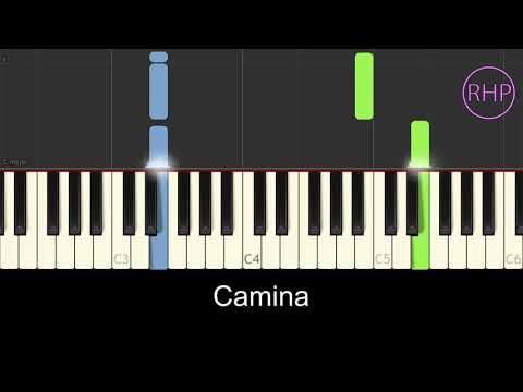 """como tocar """"CAMINA"""" -operación triunfo--con letra- OT--tutorial cover piano karaoke"""
