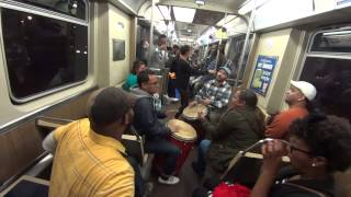 "Bomba music from Puerto Rico. Buya on Blueline Chicago 2014 ""Candela"""