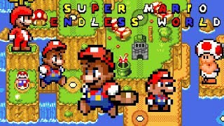 Super Mario Endless World (Restarted) • Super Mario World ROM Hack (Longplay/Playthrough)