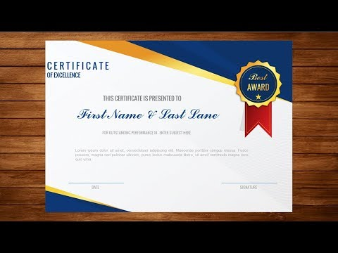 How To Make Formal Certificate Of Appreciation Award With MS  PowerPoint