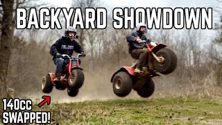 80's Honda 3 Wheelers Go HEAD TO HEAD | 140cc ATC 70 vs. ATC 200