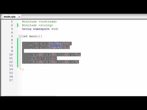 Buckys C++ Programming Tutorials - 72 - string substrings, swapping, and finding