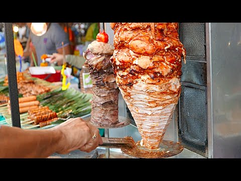 Turkish Doner Kebab Beef and Chicken (Bangkok Street Food)