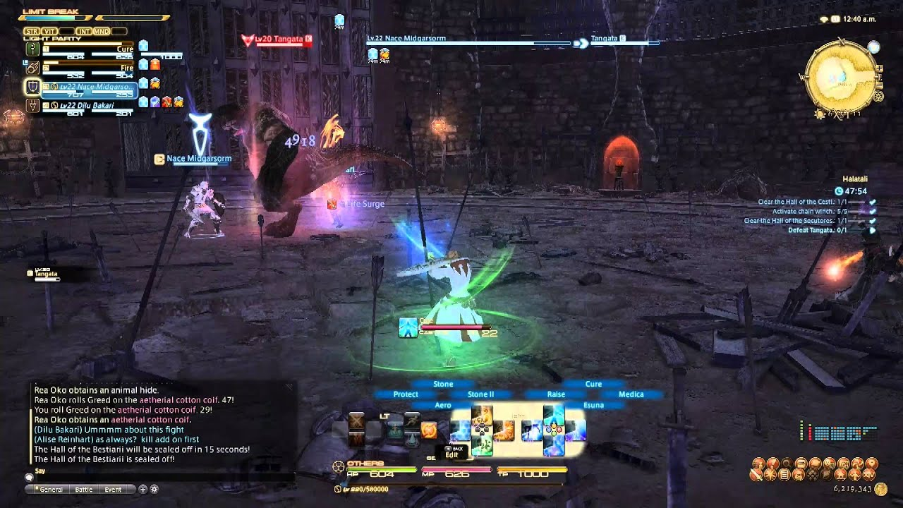 FFXIV ARR Halatali Boss Battle White Mage Gameplay YouTube