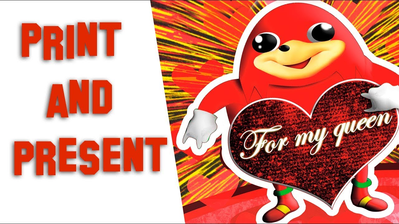 Uganda Knuckles Animated Diy Valentine Card Youtube