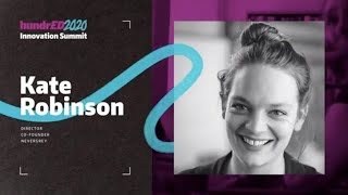Kate Robinson Tribute to Sir Ken Robinson | HundrED 2020 Innovation Summit