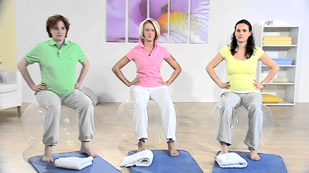 Schwangerschaftsgymnastik - YouTube on