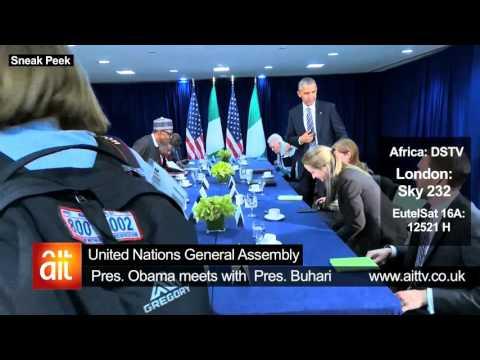 President Obama meets President Buhari