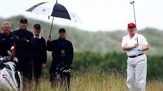 Trump Plays Golf in Rain, Refuses to Honor Troops In It