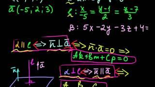 §60 Условия параллельности и перпендикулярности прямой и плоскости