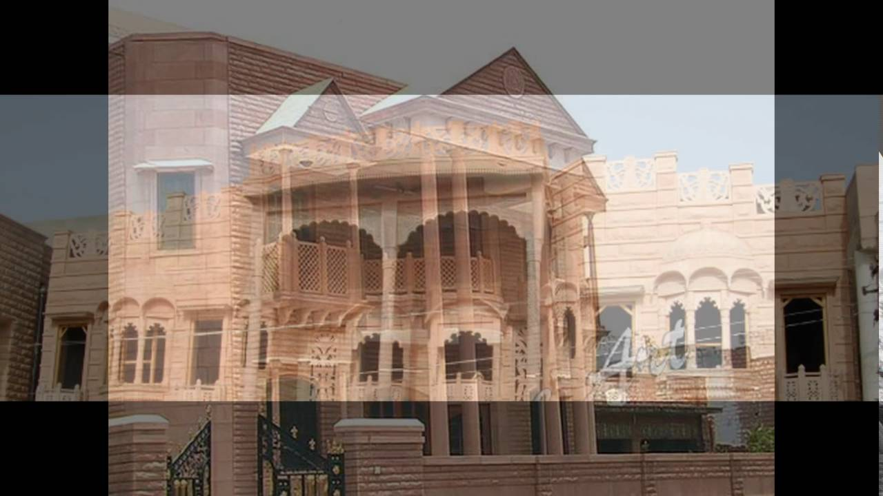 Jodhpur Stone Front Elevation : Front elevation of house in jodhpur youtube