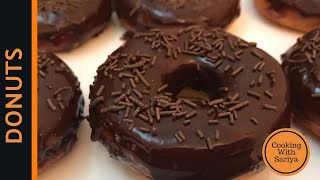 Homemade Donuts Recipe(Doughnuts) - Chocolate Donuts Recipe By Cooking with Sariya