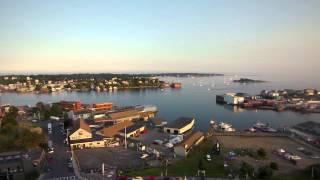 Drone video:  Downtown, Gloucester Massachusetts