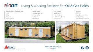 OPALON Prefabrik Rig Drilling Camp Mobil Kaynaklı Konteyner RIGON