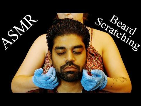 ASMR Binaural Beard Scratching for Sleep, No Talking, Brushing, Rubber Gloves