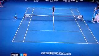 The greatest lob ever?    Murray v Federer AO '13