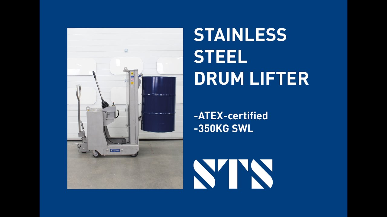 Stainless Steel Counterbalance Drum Lifter (DTP08-SS)