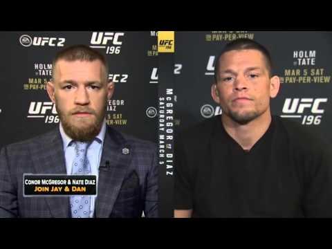 McGregor y Diaz GUERRA DE INSULTOS en la Fox  (Español)