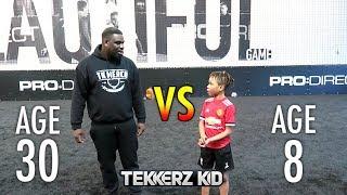 MAN vs BOY 1v1 Football Match! Who will Win?