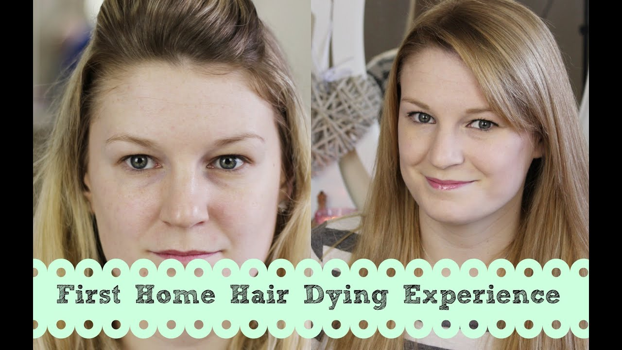 My First Home Hair Dying Experience Lilmisschickas Youtube