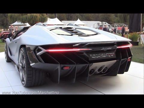 $2.3m Lamborghini Centenario Roadster Sound! - Start Ups & Loading Into Truck