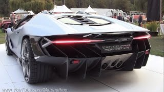 $2.3m Lamborghini Centenario Roadster Sound! - Start Ups & Loading Into Truck