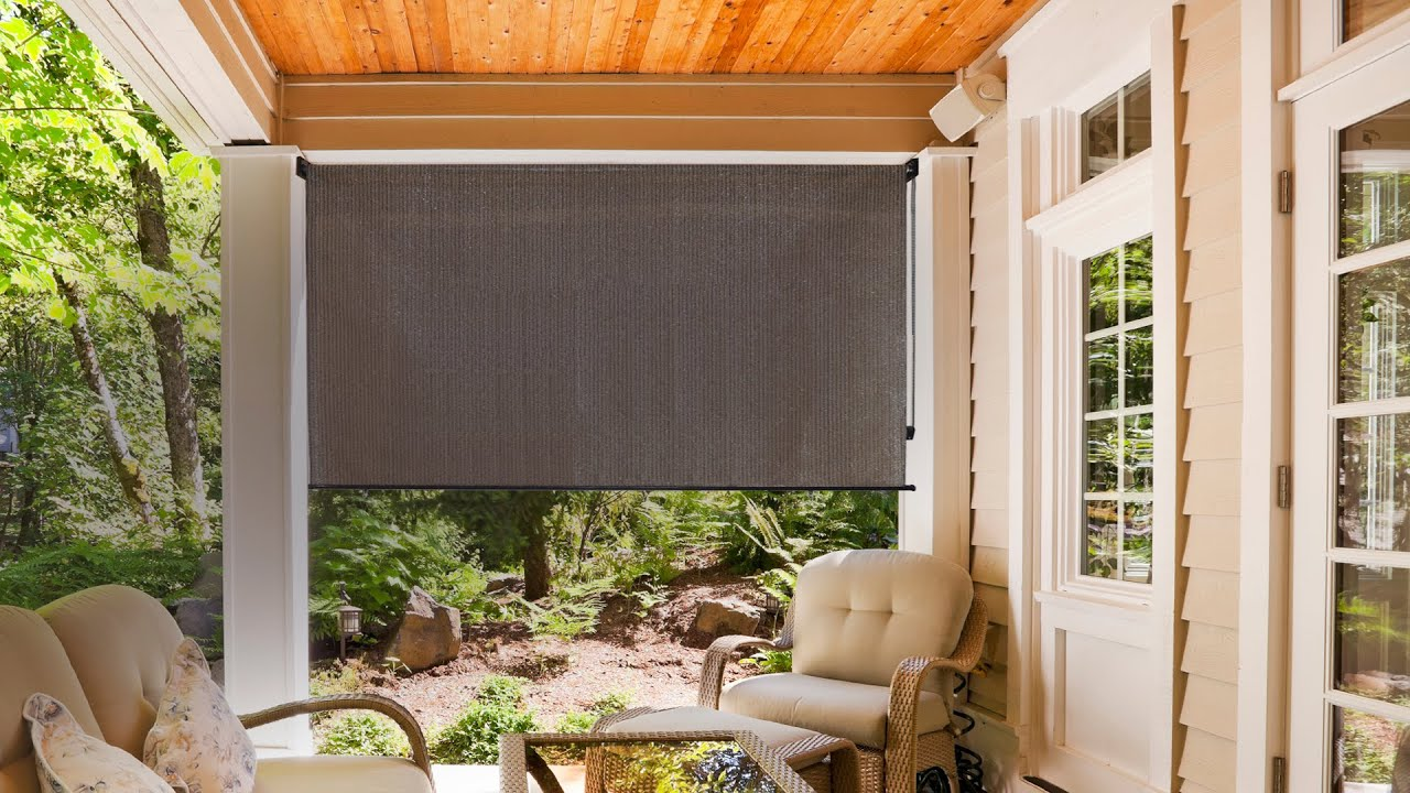Party on the Patio with Radiance Roller Sunshades! - YouTube