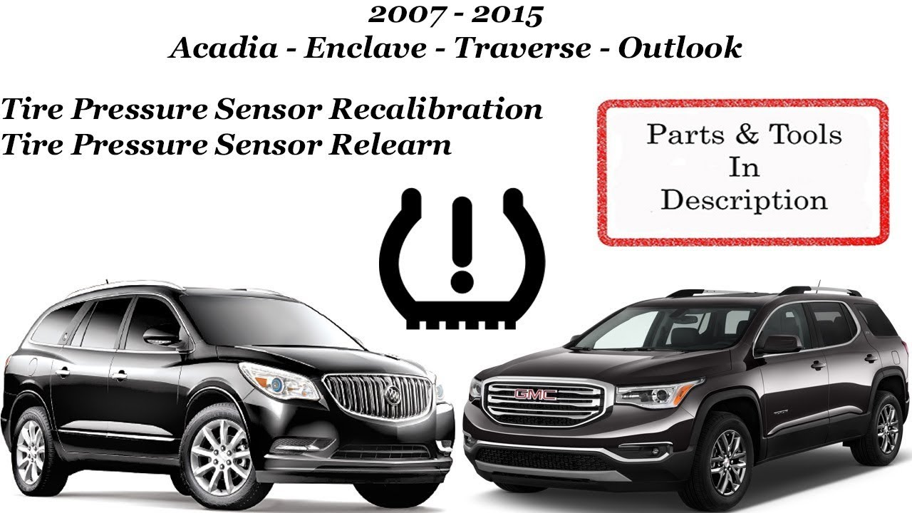 Tire Pressure Sensor Relearn Reset Recalibration