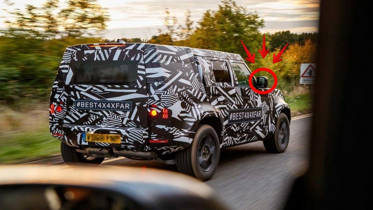 THE NEW 2020 LAND ROVER DEFENDER SPIED TESTING - YouTube