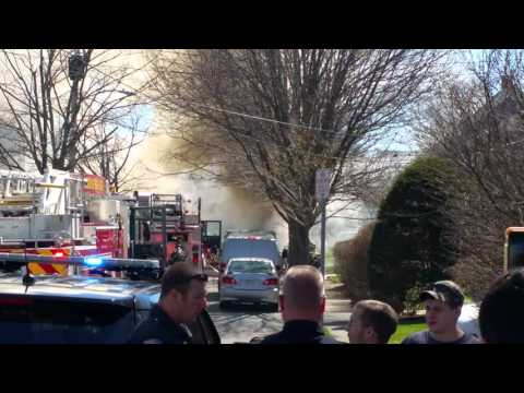 Truck on fire in MARBLEHEAD/MA