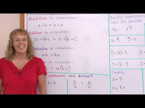 Commutative & associative properties of addition & multiplication - and subtraction & division?